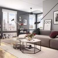 сочетание темного серого в интерьере дома с другими цветами картинка