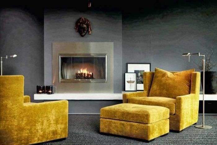сочетание темного серого в стиле квартиры с другими цветами