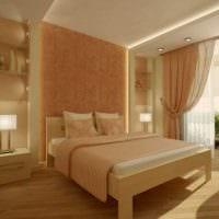 комбинирование ярких оттенков в фасаде спальни фото