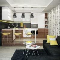 сочетание темных оттенков в фасаде кухни картинка
