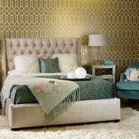 сочетание светлых оттенков в дизайне спальни картинка