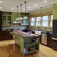 сочетание темных цветов в дизайне кухни картинка