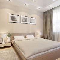 сочетание светлых цветов в дизайне спальни картинка