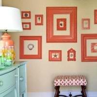 сочетание светлого оранжевого в декоре квартиры с другими цветами фото