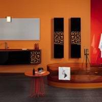 сочетание темного оранжевого в декоре квартиры с другими цветами фото