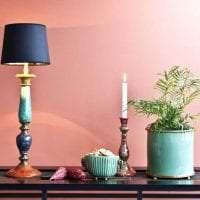 сочетание светлого розового в стиле гостиной с другими цветами картинка