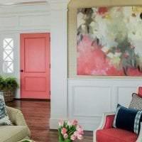 сочетание яркого розового в стиле кухни с другими цветами картинка