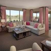 сочетание темного розового в дизайне спальни с другими цветами картинка