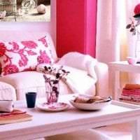 сочетание светлого розового в декоре кухни с другими цветами фото
