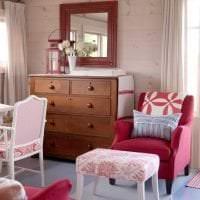 сочетание яркого розового в стиле гостиной с другими цветами картинка