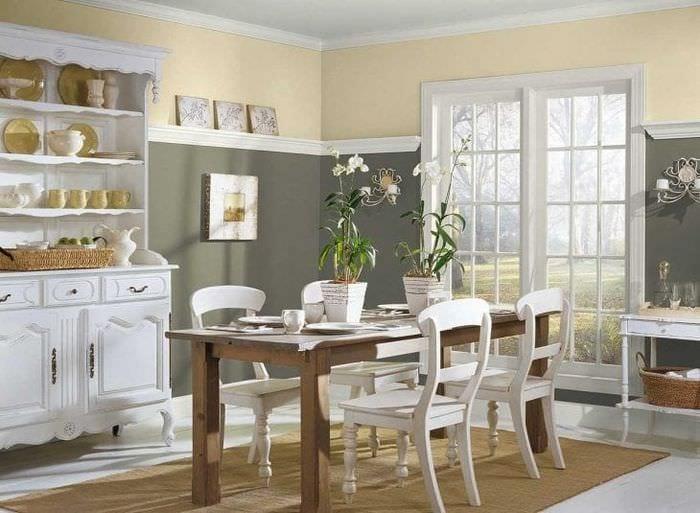 сочетание светлого серого цвета в дизайне дома