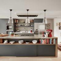 сочетание яркого серого цвета в дизайне гостиной картинка