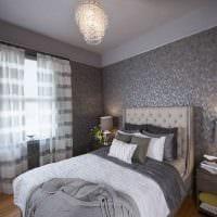 сочетание светлого серого цвета в декоре спальни картинка