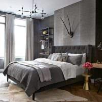 сочетание темного серого цвета в дизайне квартиры фото