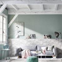 сочетание светлого серого цвета в дизайне гостиной картинка