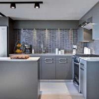 сочетание светлого серого цвета в дизайне гостиной фото