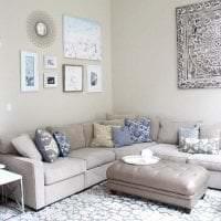 сочетание светлого серого в дизайне квартиры с другими цветами фото