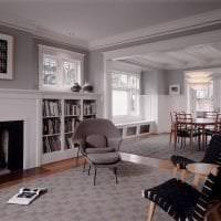 сочетание темного серого в стиле гостиной с другими цветами картинка