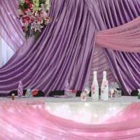 оригинальное оформление свадебного зала шариками картинка