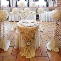 оригинальное декорирование свадебного зала шариками картинка
