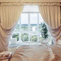 современный стиль спальни в винтажном стиле фото