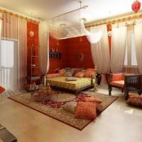 красивый фасад комнаты в восточном стиле фото