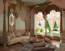 яркий фасад квартиры в восточном стиле картинка