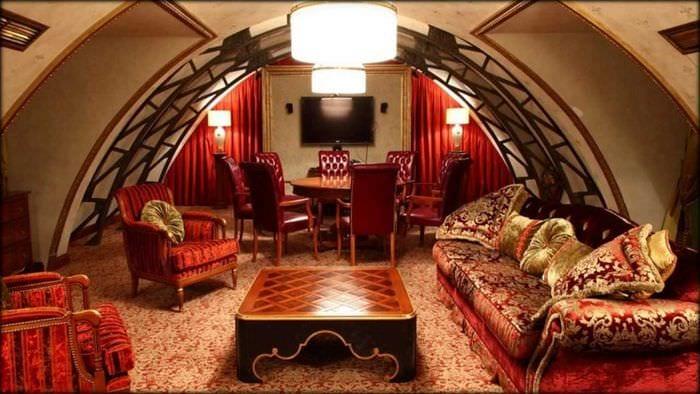 необычный стиль гостиной в восточном стиле