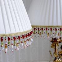 светлое украшение абажура лампы своими руками фото