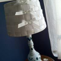 оригинальное украшение абажура подручными материалами фото