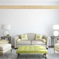 классическое оформление потолка аксессуарами фото