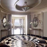 красивое украшение потолка рисунком фото