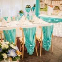 современное декорирование свадебного зала цветами фото