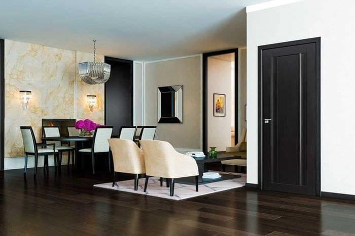 межкомнатные двери в декоре кухни