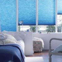 оригинальный стиль гостиной в голубом цвете фото