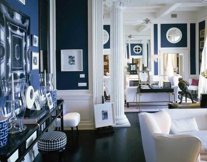 красивый интерьер комнаты в средиземноморском стиле