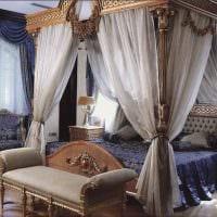 яркий дизайн спальни в стиле ампир фото