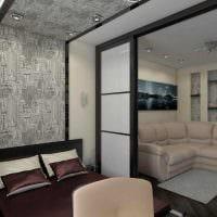 красивый декор спальни и гостиной в одной комнате фото