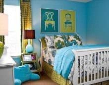 красивый стиль квартиры в голубом цвете картинка