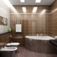 светлый дизайн душевой комнаты картинка