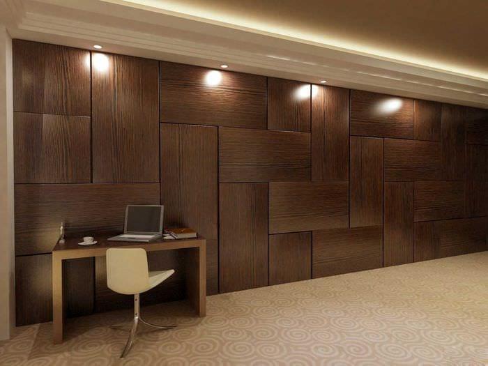 красивый декор комнаты со стеновыми панелями