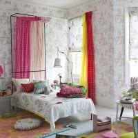 необычный дизайн спальни в весеннем стиле картинка