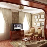 светлый интерьер спальни в стиле модерн картинка