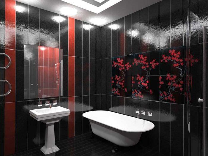 светлый стиль ванной