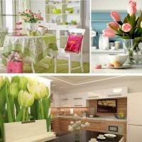 яркий дизайн гостиной в весеннем стиле фото