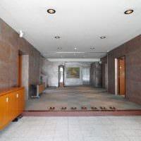 яркий гибкий камень в декоре гостиной фото