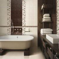 темный интерьер ванной картинка