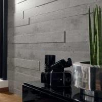 яркий дизайн гостиной со стеновыми панелями фото