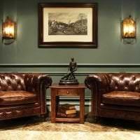 темный декор комнаты в викторианском стиле картинка