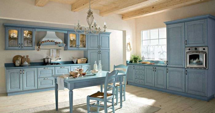 яркий декор квартиры в голубом цвете